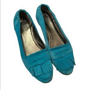 Marc Cain Suede Fringe Slip on Loafers